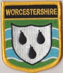 Worcestershire Embroidered Flag Patch, style 07